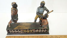 "Antique Cast Iron Baseball Mechanical Bank - ""Darktown Battery"""