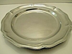 "BEAUTIFUL WILTON ARMETALE 14"" PEWTER SERVING PLATTER DISH TRAY"