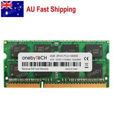 AU 4GB 2RX8 PC3-10600S DDR3 1333 Mhz 1.5v NON ECC SO-DIMM 204P CL9 Memory Module