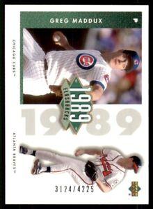 2002 UD Authentics 1989 Flashbacks #F5 Greg Maddux 3124/4225 Chicago