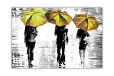 AT54378D Black and White Three Umbrellas By Leonid Afremov Poster Wall Art Print