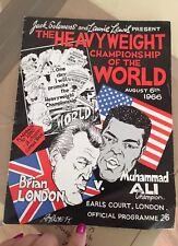 Muhammad Ali V Brian London Original 1966 Heavyweight Championship Programme