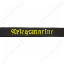 Kriegsmarine Cap Tally - Type 2 WW2 Repro German Navy Badge Patch Hat 40mm Naval
