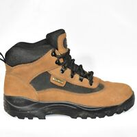 Quest Mens Brown Suede Leather Gore-Tex Hiking Boots Vibram Size 8.5 EUC 08230
