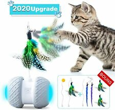 New listing Robotic Interactive Cat Toys,Upgraded Automatic Rotating Cat Toy with Colorful L
