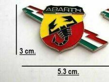 Stemma Logo Emblema Fregio Marchio Tricolore Laterale per Abarth Fiat 500 Punto