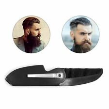 Mens Womens Handmade Folding Pocket Clip Hair Moustache Beard Comb NEW