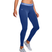 Under Armour Ua Lieblings Baumwolle Damen Blau Lang Eng Fitness Laufen Leggings