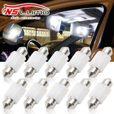 10pcs White 3030 LED Interior Map Dome Light Bulbs 31MM Festoon 3175 3022 DE3175