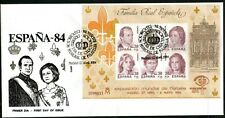 Spain 1984 Espana 84 Miniature Sheet Mint, Fine Used and First Day Cover