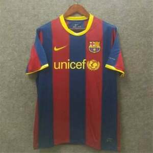 Barcelona 2010 2011 Xavi 6 FCB Home Football Retro Jersey Soccer Shirt