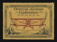 Canada Sc #CL23 (1927) 50c Patricia Airways Semi-Official Airmail Mint VF H