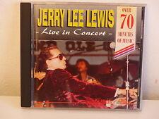 CD ALBUM JERRY LEE LEWIS Live in concert GRF050