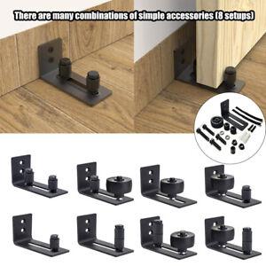 Adjustable Bottom Guide Floor Sliding Barn Door Floor Guide Roller 8 in 1 US