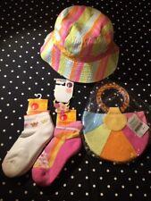 Gymboree Sunshine Daydreams hat socks purse hair accessories lot set 5 6 7 EC NW