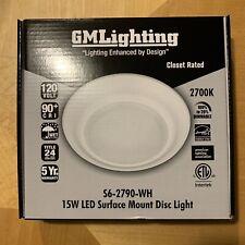 New Listinggm Lighting 15w Led Surface Mount Disc Light S6 2790 Wh 120v 2700k