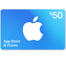 App Store & iTunes Gift Cards -$50  For Only $40 (Email-Delivery)