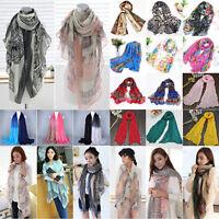 Fashion Women Chiffon Voile Soft Scarf Wrap Long Shawl Ladies Stole Silk Scarves