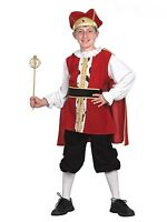 Boys Medieval King Tudor Book Week Kids Child Fancy Dress Costume Outfit