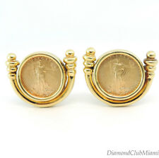 Pair of 1999 US American Eagle 1/10 oz Liberty 22kt Gold Coin Earrings 21.6 Gr