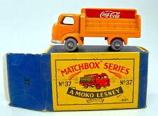 MATCHBOX rw 37a coca cola camion orange 1. version rare grise plastique roues top