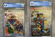 Marvel Team-Up LOT CGC #2 & #4 X-men, Morbius 4th Appearance, Human Torch