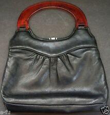 Beautiful Vintage Mid Century BAKELITE Retro 1950's Leather Hand Bag Mod Purse