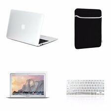 "4 IN 1 Macbook Air 13"" Clear Rubberized Hard Case + Keyboard Cover + LCD + Bag"