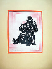Art Déco Papier découpé Silhouette sign. Chine B-298
