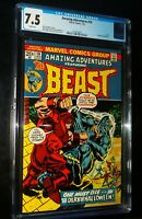 AMAZING ADVENTURES THE BEAST #16 1973 Marvel Comics CGC 7.5 VF- White Pages