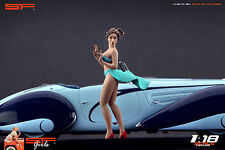 1/18 Wind Girl VERY RARE !! figure for1:18 CMC Autoart Ferrari MR Exoto