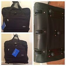 """38"""" Black Rolling Expandable Duffle Bag Spinner Suitcase Luggage with 8 Wheels"""