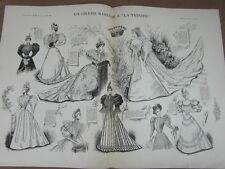 L' ART ET LA MODE - 1893 - No 21 - ILLUSTREE - UN GRAND MARIAGE A LA TRINITE