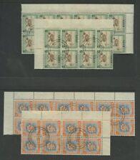 NIUE 1950 SCENES 1/2d 1d 2d CTO F.USED BLOCKS cv£100