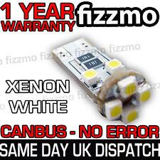 1x 8 SMD LED W5W T10 501 CAPLESS WEDGE CANBUS ERROR 6000K WHITE SIDE LIGHT BULB