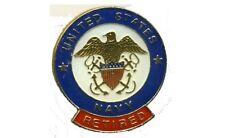 "United States Navy- ""Retired"" Round Pin"