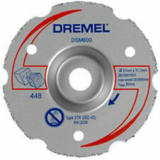 Dremel DSM600 77mm Corte Al Ras De Carburo Multipropósito Disco de rueda DSM20 vio-Max