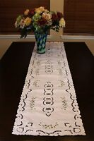 Embroidered Rosebud Lace Placemat Scarf Runner Wedding Party Banquet Event Decor