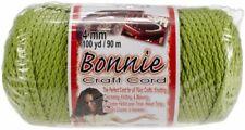 Bonnie Macrame Craft Cord 4mmx100yd Lime 725879631468