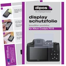 2x Nikon Coolpix P510 Pellicola Prottetiva Transparente Proteggi Schermo