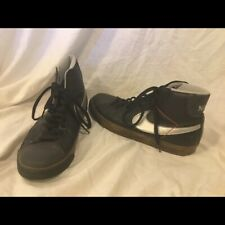 NIKE Sneakers Shoes Size 8.5 Swoosh High Top Basketball Shoes Black White