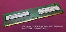 Memoria (RAM) de ordenador Micron Velocidad del bus del sistema PC2-6400 (DDR2-800)