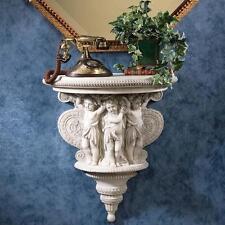 Italian Baroque Antique Cherubs Sculpture Console Shelf Replica Reproduction