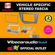 Seat Leon 2005 - 2012 Double Din Stereo Fascia Adaptor Brilliant Silver CT23ST17