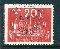 SWEDEN 1924. THE UPU 20o ROSE-RED, SG164. VERY FINE USED: