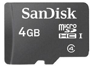4GB CLASS 4 New Adata MicroSD SDHC TF Memory Card for Phone