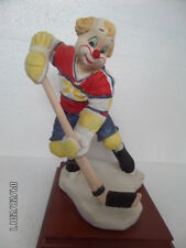 Rare Vintage Collectable Davar Ice Skating Hockey Player Clown Figurine