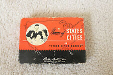 Vintage Card Game - Names of States and Cities (Parker Brothers Inc) !!Rare!!
