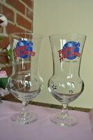 Planet Hollywood Lake Tahoe Tall Hurricane Glasses! Lot of 2! New!