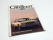 Chevrolet 1972 Caprice Impala Bel Air ca.A4 20S Englisch Prospekt Brochure TOP